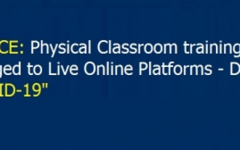 Announcement: Classroom Training change to Live Online - ITechGurus